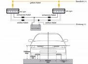LED Tagfahrlicht VW Golf 5 Tagfahrleuchten in Kunststoffhalterung