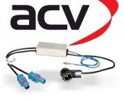 Antennenadapter ISO für 2x Fakra Audi Seat Skoda VW mit Phantomeinspeisung und Diversity