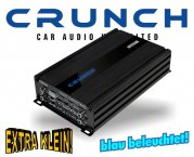 Crunch GTO Micro Auto Verstärker Endstufe GTO-4125 4x 250W