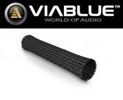 ViaBlue Geflechtschlauch Cable Sleeve Kabelschutzschlauch Black Big Meterware