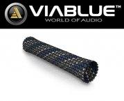 ViaBlue Geflechtschlauch Cable Sleeve Kabelschutzschlauch Blue Big Meterware