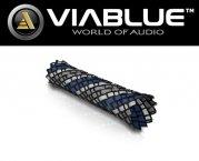ViaBlue Geflechtschlauch Cable Sleeve Kabelschutzschlauch Blue Medium Meterware