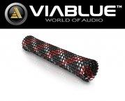 ViaBlue Geflechtschlauch Cable Sleeve Kabelschutzschlauch Red Big Meterware