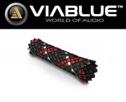 ViaBlue Geflechtschlauch Cable Sleeve Kabelschutzschlauch Red Medium Meterware
