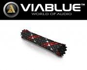 ViaBlue Geflechtschlauch Cable Sleeve Kabelschutzschlauch Red Small Meterware