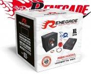 Renegade Car Hifi Set Subwoofer mit Endstufe und Kabel RBK1100XL 1100W