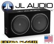 JL Audio Auto Subwoofer Bassbox flach 600W 2ohm CS212LG-TW1