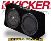 Kicker Subwoofer TComp RT124 flache Bassbox 1000W 4ohm