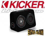 Kicker Subwoofer TComp RT674 extra kleine Bassbox 300W 4ohm
