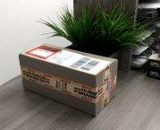 Packband Paketband Klebeband rot weiss leise abrollend 50mm 66m