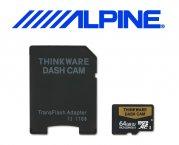 Alpine 64GB SD Karte Speicherkarte für Dashcam DVR-F800PRO und DVR-F200